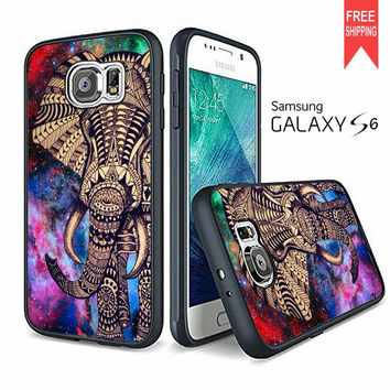 Aztec Elephant Space Galaxy Design Samsung Galaxy S6 Case
