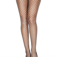 Black Mini Diamond Net Spandex Stocking