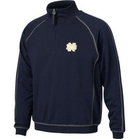 Notre Dame Fighting Irish ND Navy Blue Cotton Knit 1/4-Zip Pullover