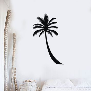 Wall Sticker Banana Coconut Palm Sea Sun Beach Paradise Vinyl Decal Unique Gift (n322)
