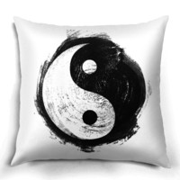 Yin Yang Painting Pillow