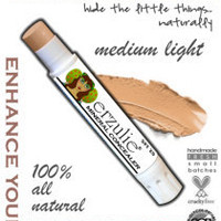 Natural and Organic Mineral Concealer In MEDIUM LIGHT Non-Comedogenic Gluten Free Makeup Acne Safe Makeup Extra Coverage