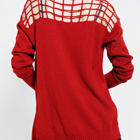 Nameless Cage Shoulder Cardigan - Urban Outfitters