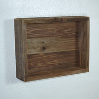 Simple shadow box style shelf with back