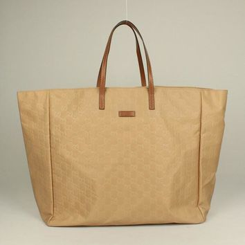 Gucci Tote bags 286198 HandBags Nylon Apricot Ladies