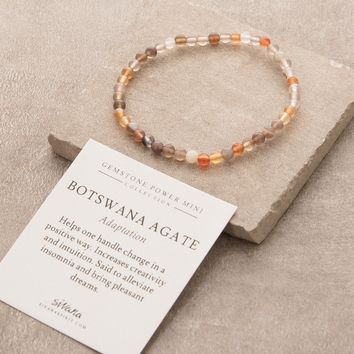 Botswana Agate Mini Gemstone Energy Bracelet