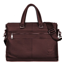 Bullcaptain Business Briefcase Genuine Leather Crossbody Bag Sling Bag For Men