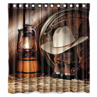 Horse Cowboy Bathroom Shower Curtain 50% OFF