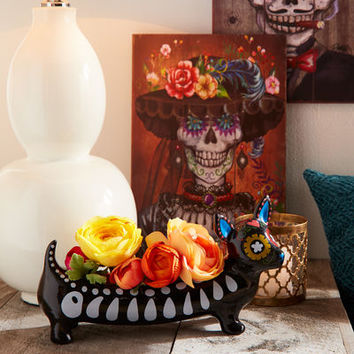 Dia de los Muertos Mrs. Skeleton Wall Decor