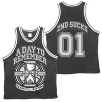 A Day To Remember: 2nd Sucks Basketball Jersey