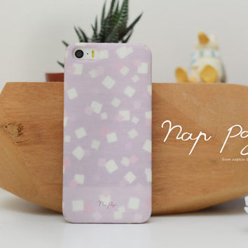 Apple iphone case for iphone iphone 5 iphone 5s iphone 5c iphone 4 iphone 4s  : violet rectangle pattern on purple