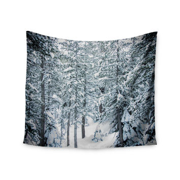 "Juan Paolo ""Winter Trials"" White Snow Wall Tapestry"
