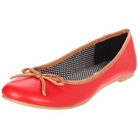 CL by Chinese Laundry Women`s Get Down Ballet Flat,Red,8.5 M US