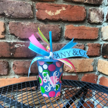 BOGO! Monogrammed Cup, Child, Children, Kids, Custom, Personalized, Lid, Straw, Stocking Stuffer, Birthday, Gift, Favor