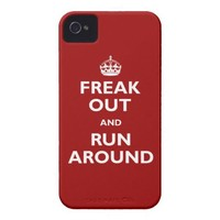 Freak Out & Run Around Iphone 4 Tough Cover from Zazzle.com