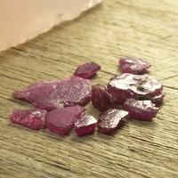 14ct+ Capstone Ruby/Pink Sapphire Rough Parcel 2