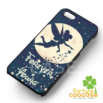 Tinkerbell Forever Young Quote -EnLs for iPhone 6S case, iPhone 5s case, iPhone 6 case, iPhone 4S, Samsung S6 Edge