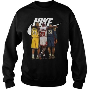 Nike Michael Jordan Hugging Kobe Bryant And Lebron James shirt Sweat Shirt