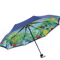 Garden Uv Protection Compact Auto Folding Umbrella