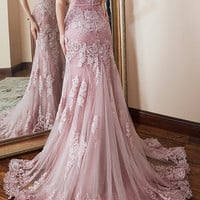 Angel married fashion evening dresses appliques lace evening dresses women pageant dress formal party dress from lass