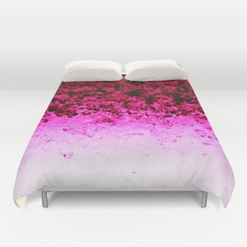 Magenta Pink Ombre Crystals Duvet Cover by 2sweet4words Designs