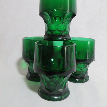 Viking Georgian tumblers 8oz Honeycomb Emerald Green  OR Ruby Red set of 4 each