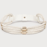 bebe Womens Rope Stretch Belt