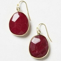 Fortuna Gem Drops by Anthropologie Wine One Size Earrings