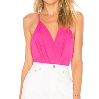 by the way. Rikki Chiffon Bodysuit in Hot Pink | REVOLVE