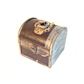 Medium Steampunk Treasure Chest