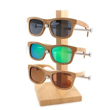 BOBO BIRD Brand Designer Handmade Simple Fashion Style Nature Bamboo Sunglasses Women Men Polarized Glasses with Wooden Box 2017