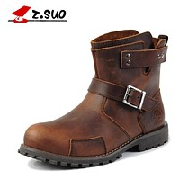 Martin Boots Genuine Leather Men Boots New Arrival Autumn Ankle Boots Winter Men's Casual Boots