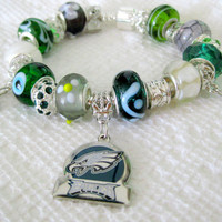Licensed Philadelphia Eagles Charm on a European Style Bracelet