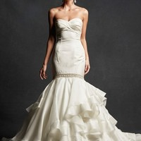 Isabelle Armstrong 'Greta' Strapless Tiered Silk Trumpet Gown (In Stores Only) | Nordstrom