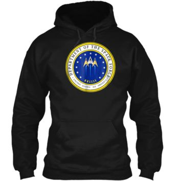 Department of Space Force Funny Political Satire T-Shirt Pullover Hoodie 8 oz