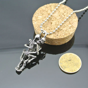 Skull Necklace Halloween Pendant