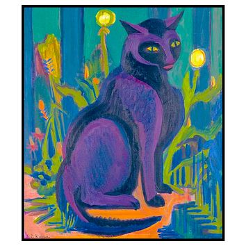 The Black Cat by Ernst Ludwig Kirchner Counted Cross Stitch Pattern