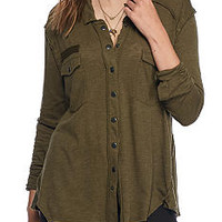 Free People Monday Morning Button Down Top