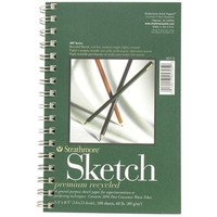 "5 1/2"" x 8 1/2"" 400-Series Recycled Sketch Pad 