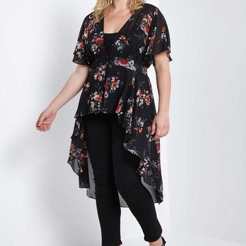 Karina High Low Wrap Duster