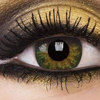 Natural Green Colour Contact Lenses, Natural Green Colour Lens | EyesBright.com