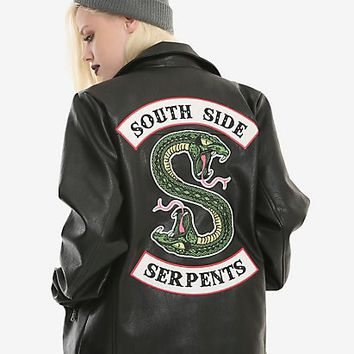 Riverdale Southside Serpents Faux Leather Jacket Hot Topic Exclusive