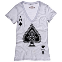 Arquebus Clothing: Be An Ace Tee Women's White, at 8% off!