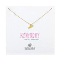 kentucky necklace, gold dipped - Dogeared
