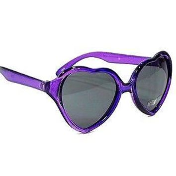 Kids Girls Heart Shaped SWEET PIE Sunglasses Age 2-4 PURPLE and RED Frames