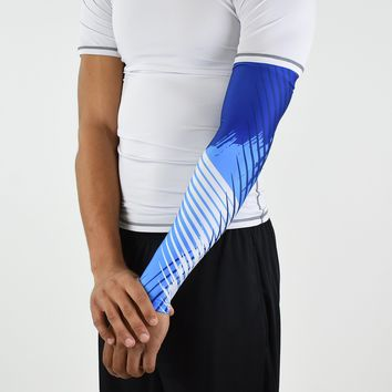 Aerial blue and navy arm sleeve