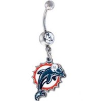 Miami Dolphins NFL Sexy Belly Navel Ring