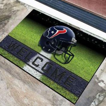 Houston Texans Door Mat 18x30 Welcome Crumb Rubber