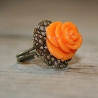 Buy 3 get 1 FREE sale Orange Delight Brass by brightstarjewelry