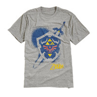 The Legend Of Zelda Shield & Sword Tri-Blend T-Shirt